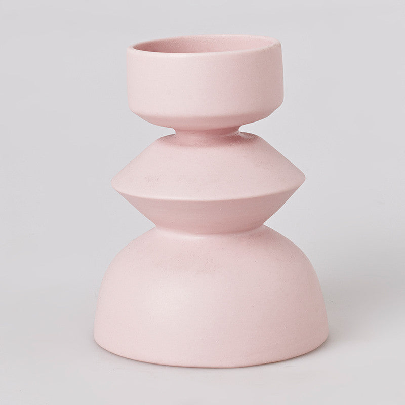 Rook Ballet Candle Stand - Pink Peacock
