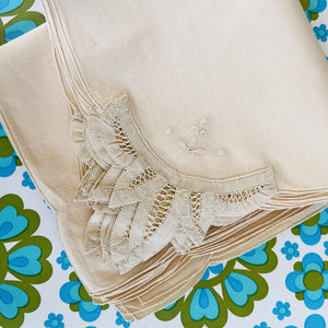HUGE Lot LINEN Serviettes UNUSED Vintage Tableware Dinner Party NAPKINS