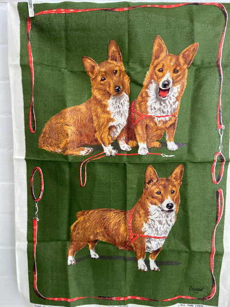 FAST Colours Linen Ireland DOGS Vintage Collectable UNUSED