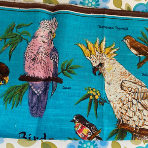 Birds of Tasmania VINTAGE Retro Collectable TEA TOWEL