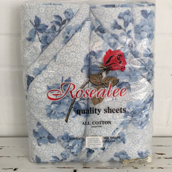 Rosealee Flanelette All Cotton UNUSED Vintage SHEETS Bed