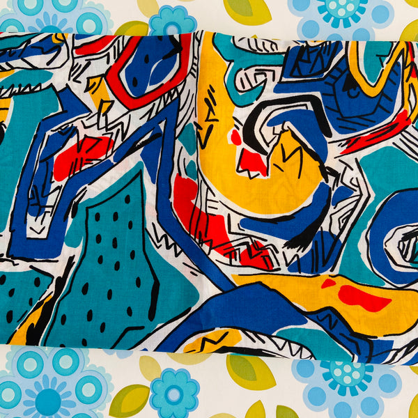 Cool Bright Bold UNUSED Cotton Fabric Quilting Tops Sewing