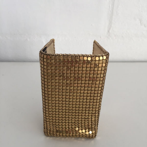 GLOMESH Gold VINTAGE 70's Key Ring Holder DISCO Chic