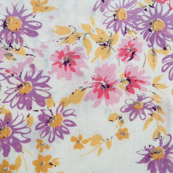 Floral Vintage Sheet PINK Cotton Clean SEWING CRAFT Sheridan