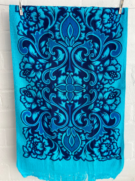 UNUSED Tea Towel BLUE 70's Towelling FABULOUS