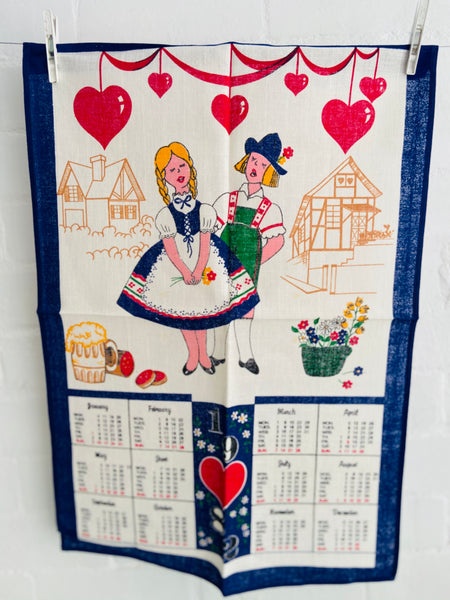1982 Vintage Tea Towel UNUSED Bright & Crisp Craft Up Cycle
