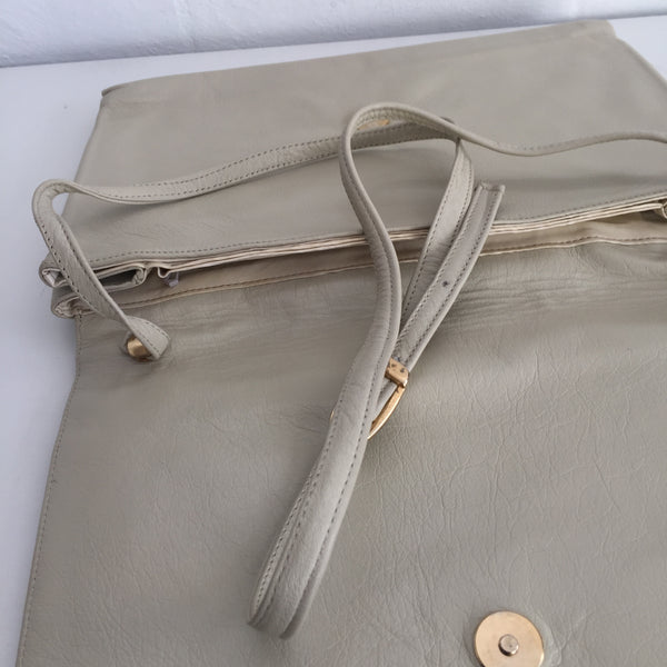SOFT Genuine LEATHER Clutch Handbag 70's BAG Evening COCKTAIL Vintage