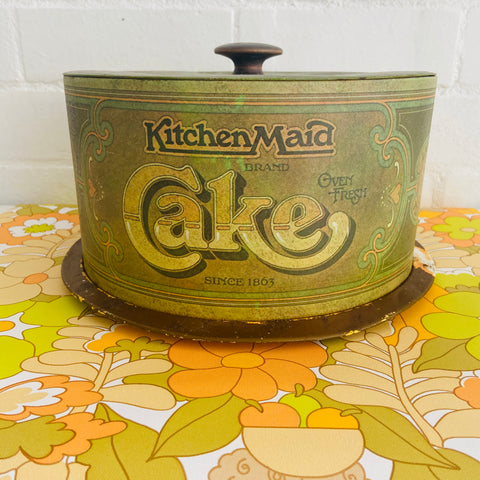 LARGE Cake Tin Cover Display Kitchen Maid RUSTIC Farmhouse Country
