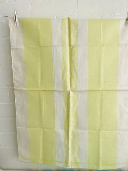Vintage Striped Linen RETRO Kitchen Collectable