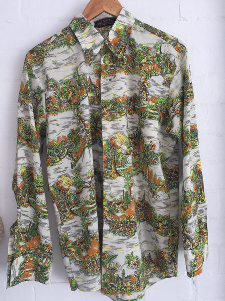 Cool Vintage Mens Retro Shirt Fabulous Top