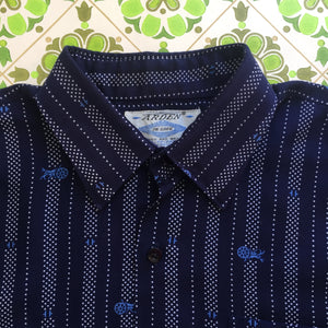 Vintage MENS Shirt Horse & Cart Fabric 70's Retro Top