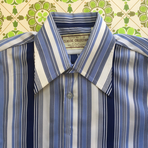 Mens Vintage SHIRT Retro Fashion Top 70's