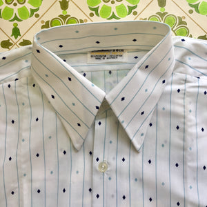 Unworn MENS Vintage Shirt Cotton Size 38cms COOL