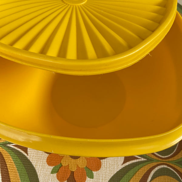 Large Yellow Tupperware Container RETRO Vintage Kitchen 70's