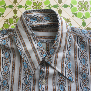 Awesome MENS Vintage Shirt Casual Top 70's Fashion