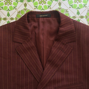 Mens Blazer Suit Jacket Made in Italy Coat FULLY LINED Vintage