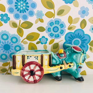 Donkey 70's Kitsch Cart Figure Retro Home ADORABLE