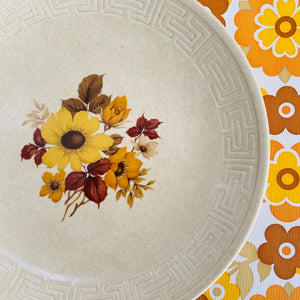 Johnson of Australia PLATE Retro 70's Floral Dinner Set