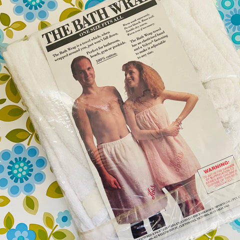 100% Cotton Retro Bath Wrap UNUSED Packet HERS Bathroom