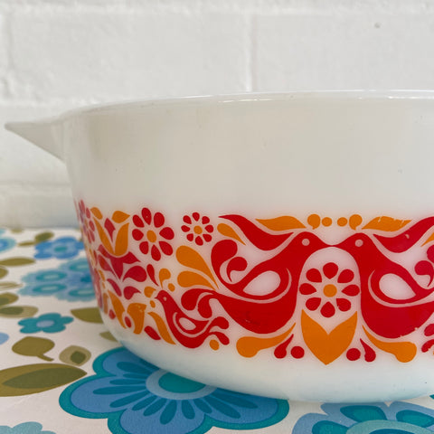 Vintage Friendship Casserole Dish Retro Kitchen Collectable PYREX
