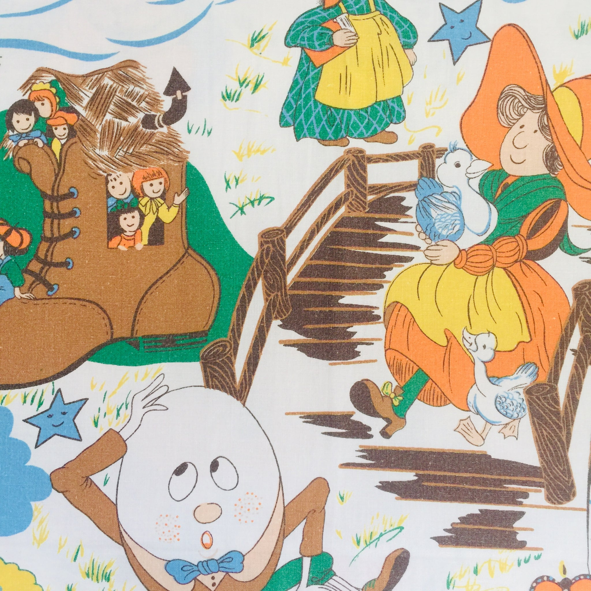 Children's Cotton Sheet FABRIC Nursery Rhymes Craft Sewing
