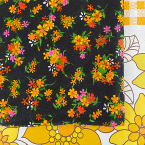 Vintage Floral Fabric Lovely Colours A Hodges Fabric Retro Sewing