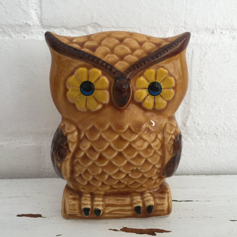 Retro Kitchen Table Serviette HOLDER Owl 70's Fun