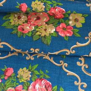 Huge STUNNING Upholstery FABRIC Unused Vintage Bright PRETTY