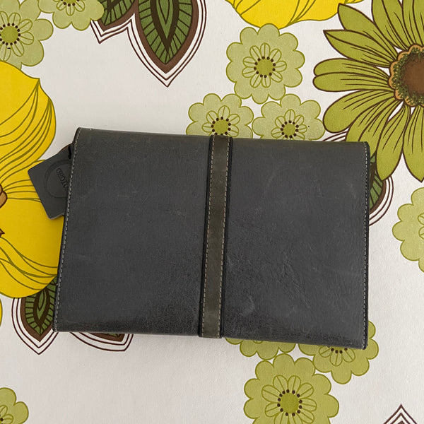 OROTON Wallet Purse VINTAGE Leather Grey Designer