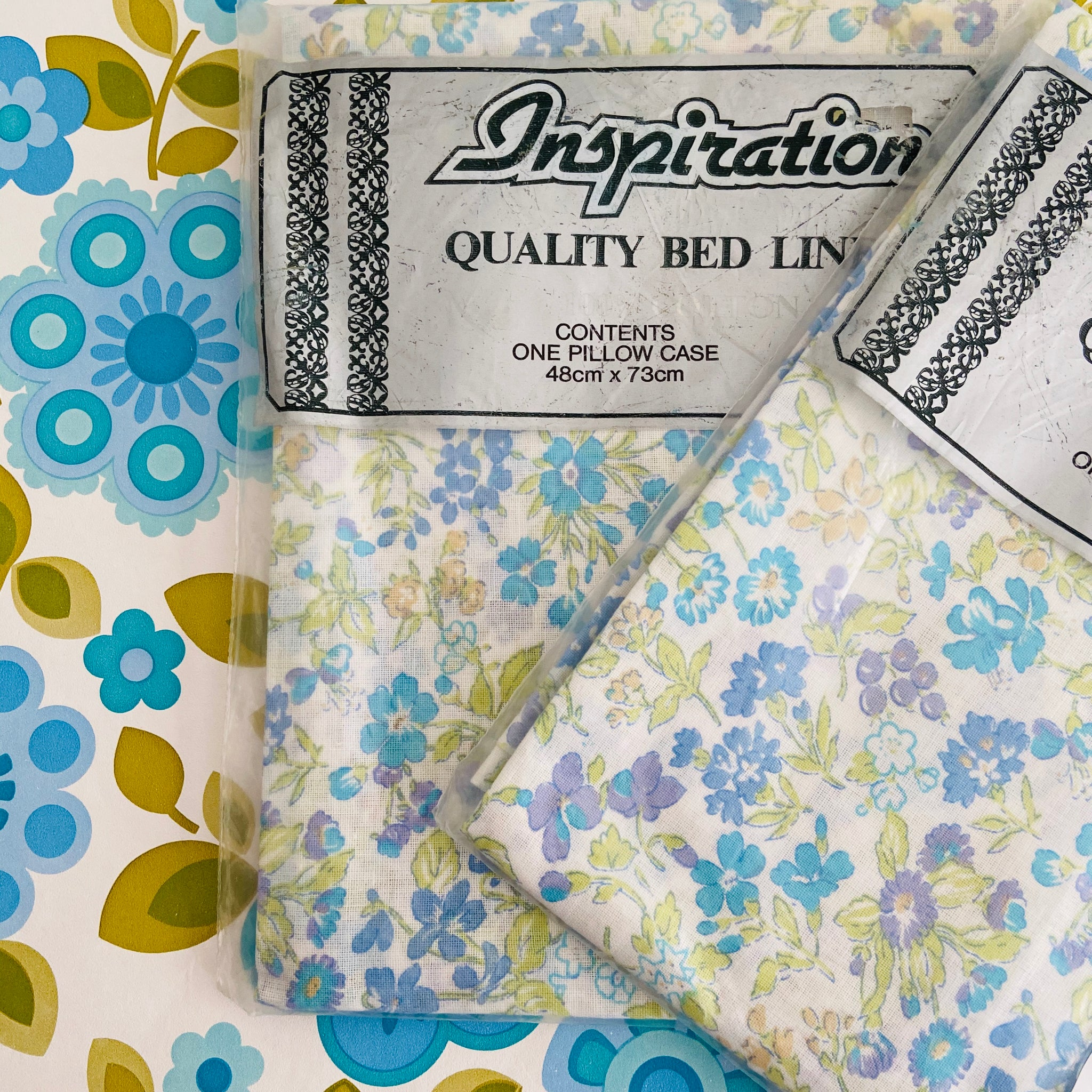 100% Cotton Pillow CASES Unused Vintage Pretty Floral Girls Bedroom