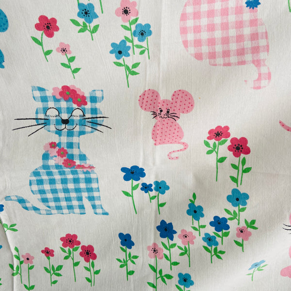 Cute Children's Cotton Fabric 70's Sheet NOVELTY Craft Sewing