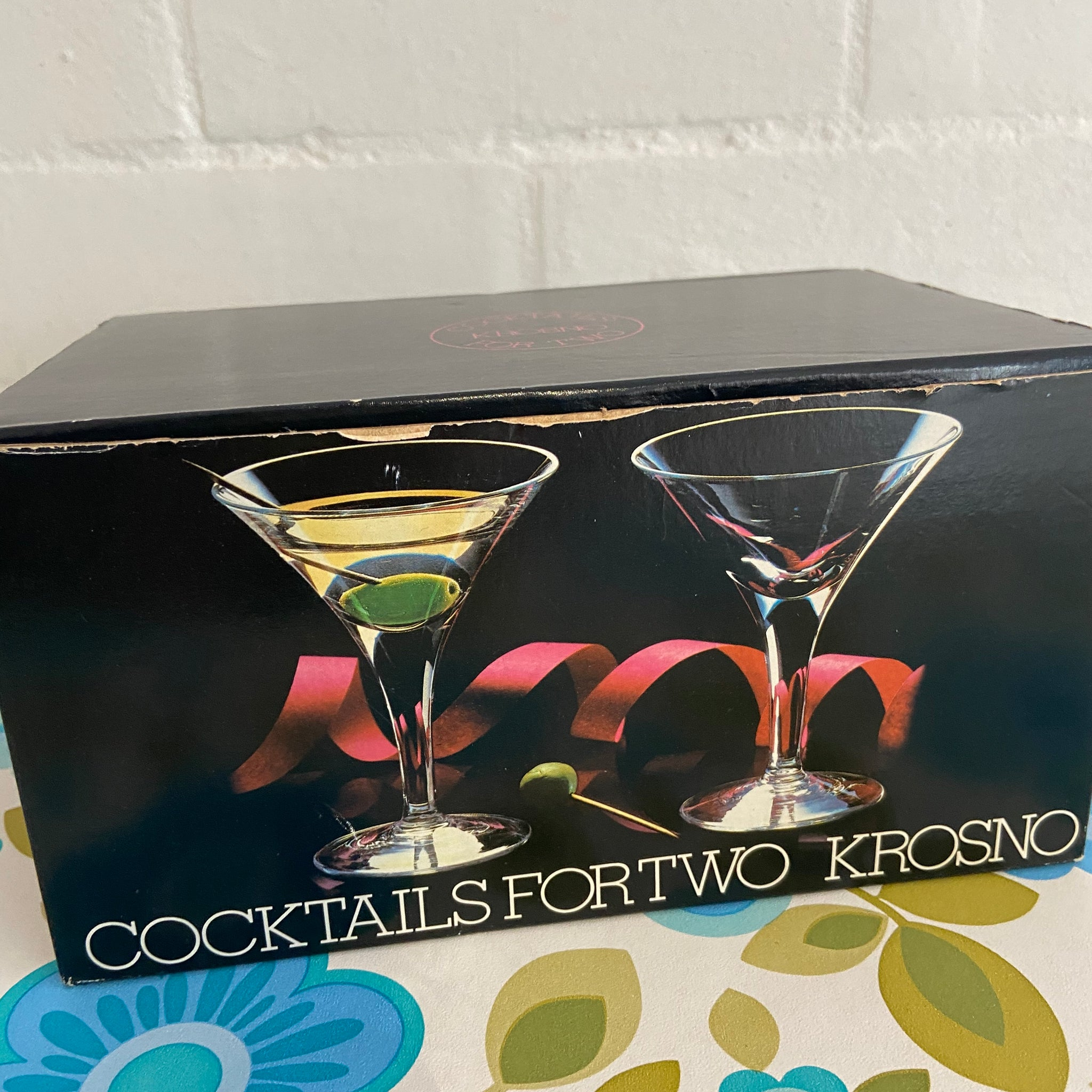 KROSNO Cocktails for TWO Boxed Vintage Retro Bar Dinner Party