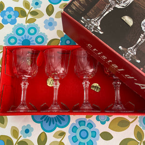 Cristal D'Arques Port Glasses BOXED Vintage Retro BAR