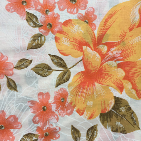 VINTAGE Sheet Fabric FLORAL Craft Sewing UNUSED - NEW
