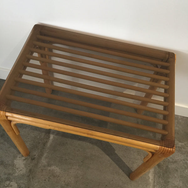 Cane Wicker Vintage Table Coffee LOUNGE Room