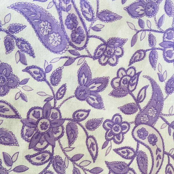 Vintage Sheet Fabric Paisley Bright Good Condition Sewing Craft