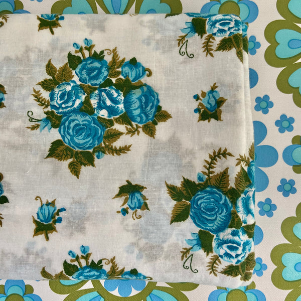 Vintage Cotton Sheet FLORAL Retro Charm Fabric