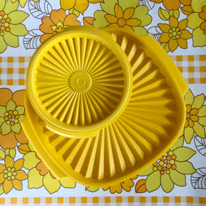 TUPPERWARE Retro Kitchen Pair Yellow Containers