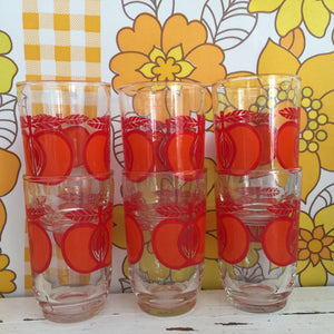 ADORABLE Set of Six Glasses Retro Kitchen KITSCH Caravan