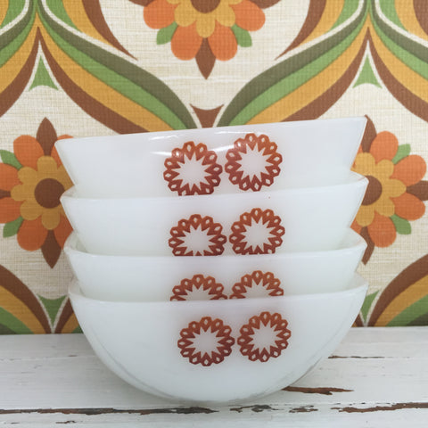 Cute Stack of Vintage Pyrex Ramekins AS NEW Perfect Very Sweet Kitchen DECOR
