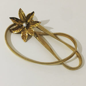 Awesome Vintage Gold Mesh Belt FLORAL Buckle Diamonte