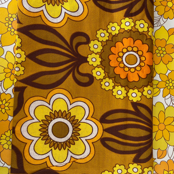 Genuine Retro Barkcloth FABRIC 70's AMAZING 116cms Wide