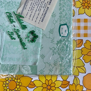DAMASK Vintage Peppermint Green Table CLOTH Retro HOME Kitchen