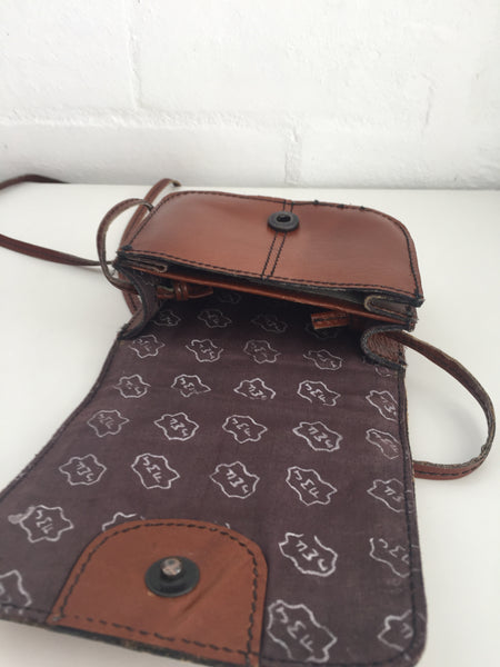 Cute Little Leather Purse VINTAGE Hippy Chic