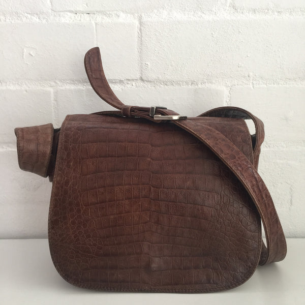 Made in ITALY Handbag Genuine LEATHER Rustic Bag