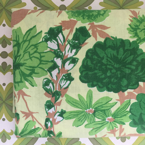 Cute Vintage Retro Cotton Sheet Bright FABRIC GREEN