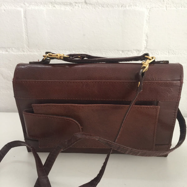 Milleni Purse Organiser TRAVEL Day Bag LEATHER