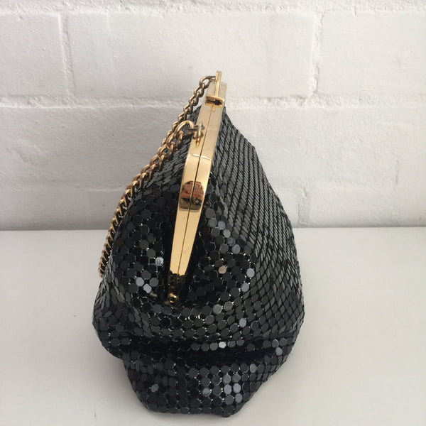 GLOMESH Handbag Black Beautiful Vintage Evening Bag