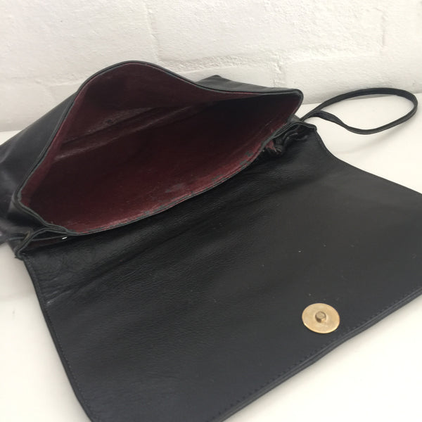 Soft Supple Genuine LEATHER Handbag Vintage Evening Bag