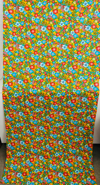 GORGEOUS Vintage European 100% Cotton Fabric Exotic UNUSED Mint